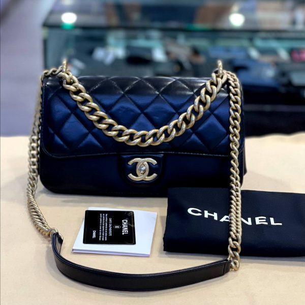 Preloved Chanel Quilted Calfskin Leather Shoulder Flap Bag