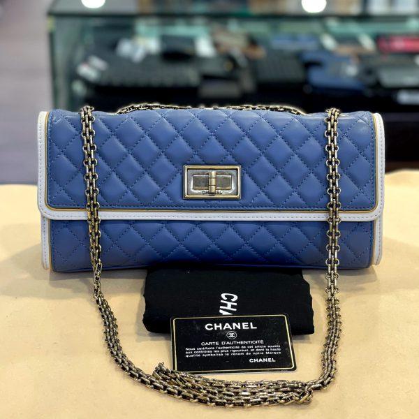 Preloved Chanel 2.55 Lock Sling bag in Blue