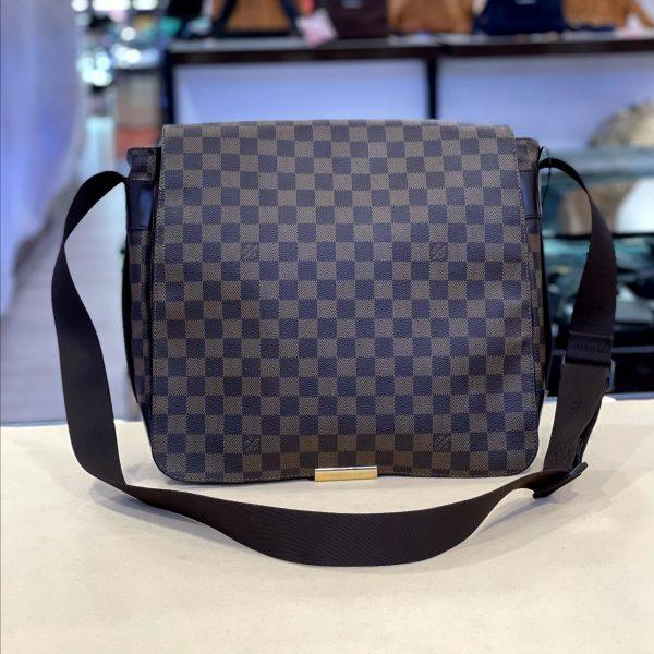 Preloved Louis Vuitton Bastille Damier Ebena Canvas Messenger Bag