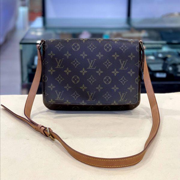 Vintage Louis Vuitton Mussette Tango Monogram Canvas Crossbody Bag