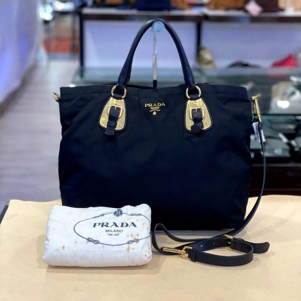 Preloved Prada Tessuto Nylon 2ways Carry Tote Bag