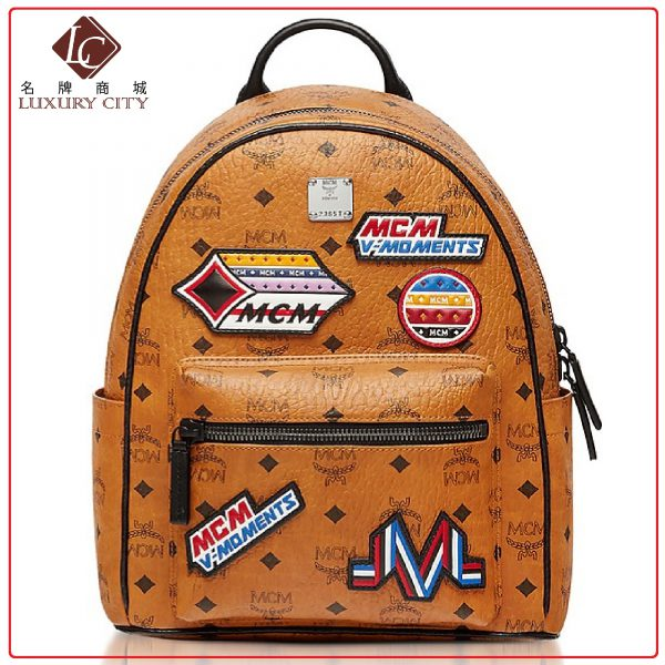 MCM PATCH APPLIQUE BACKPACK MCM-MMK8SVE34 (BROWN/MAHOGANY)