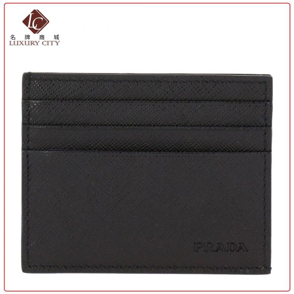 Prada Saffiano Leather Card Holder PRADA-2MC223 (Black)
